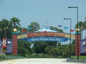 Entering Disney World